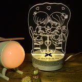 3D立体LED Night Light - 3色闪钻夜灯