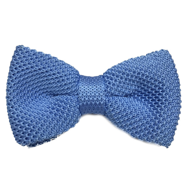 Light Blue Knitted Bow Tie