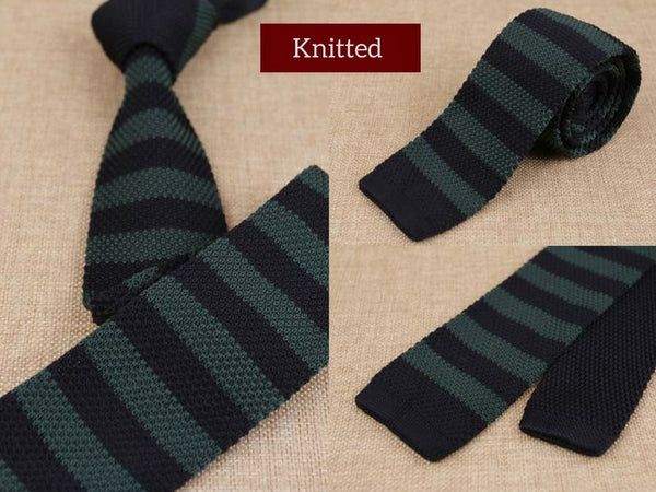 Mens Skinny Knitted Tie Smart Casual