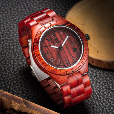 Red Sandalwood Watch - Mens Fashion Co