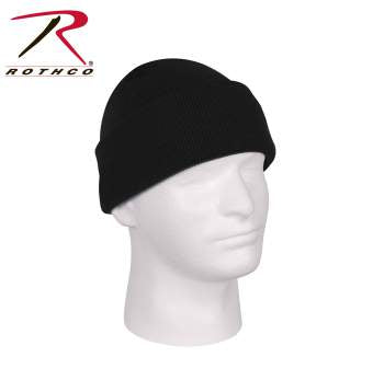 Rothco Deluxe Fine Knit Watch Cap : BLACK