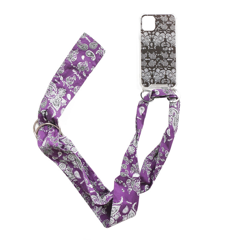 SALUTE 2019FW BANDANNA IPHONECASE CHAINS (Purple)