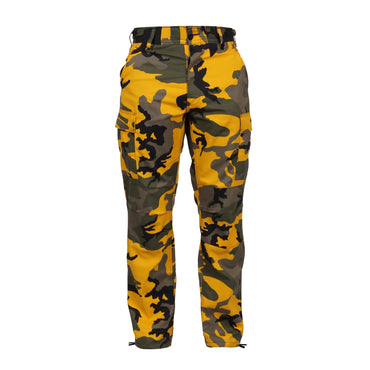 Color Camo Tactical BDU Pant : Stinger Yellow Camo