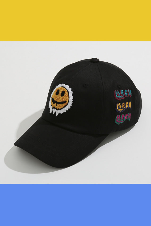 SMILE BALL CAP (BLACK)