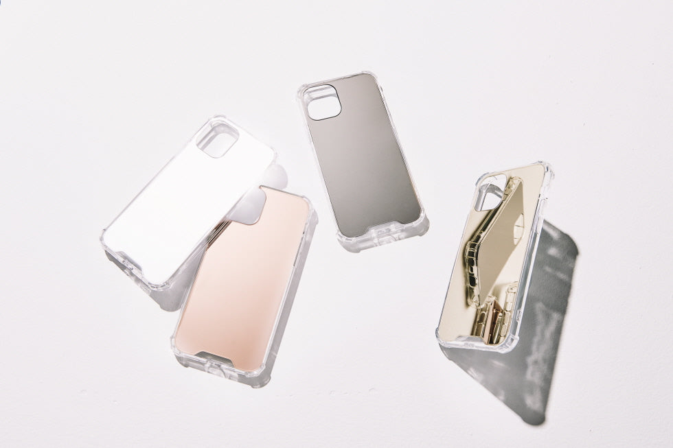 "iPhone ""BASIC MIRROR"" CASE + Chain Combo Set"