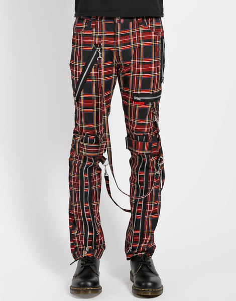 PLAID BONDAGE PANT (BLACK PLAID)