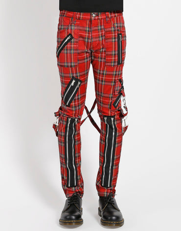 PLAID BONDAGE PANT ( RED PLAID )
