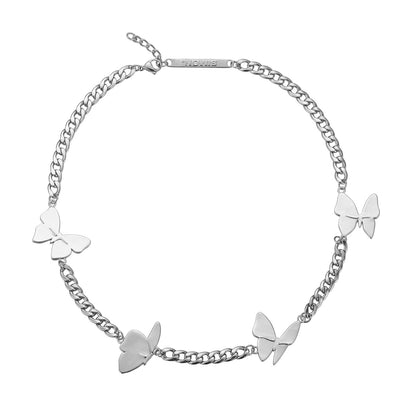 LURS Four butterflies flying necklace