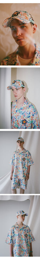 FLOWER OPEN COLLAR HALF SHIRTS (JAPAN FABRIC)