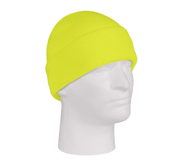 Rothco Deluxe Fine Knit Watch Cap : Safety Green