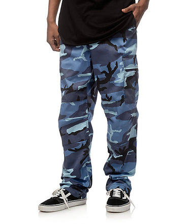 Color Camo Tactical BDU Pant : Sky Blue Camo