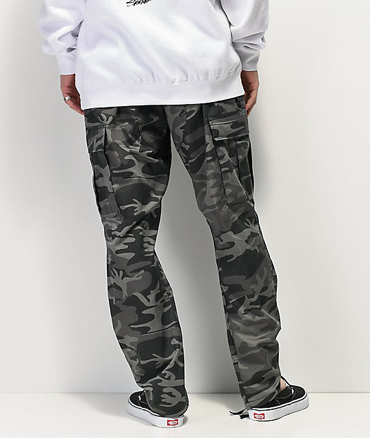 Color Camo Tactical BDU Pant : Black
