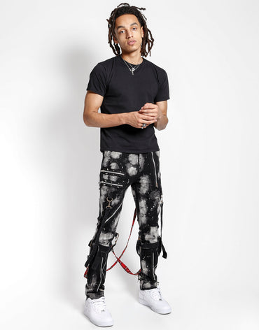 BLEACH AND STUD BONDAGE PANT