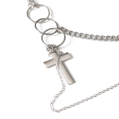 MAISON EMERALD : Ring cross necklace