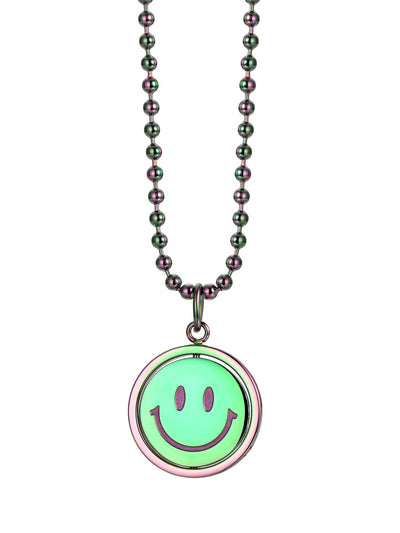 LURS double-sided flip necklace <Rainbow>