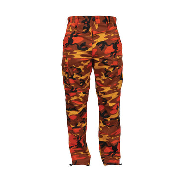 Color Camo Tactical BDU Pant : Savage Orange Camo