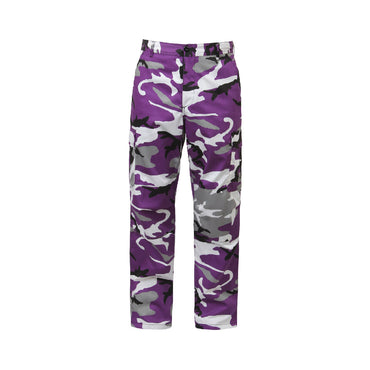 Color Camo Tactical BDU Pant : Ultra Violet Camo
