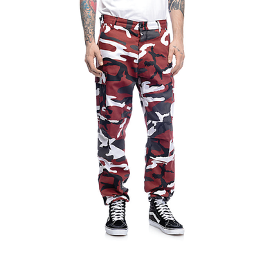 Color Camo Tactical BDU Pant : Red Camo