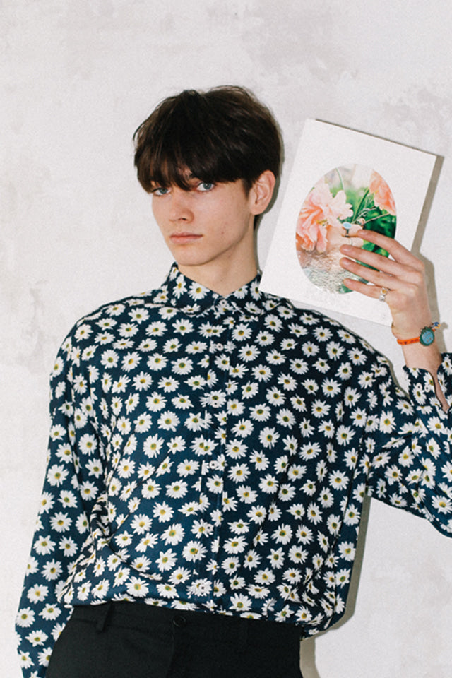 FLOWER SILKY SHIRTS