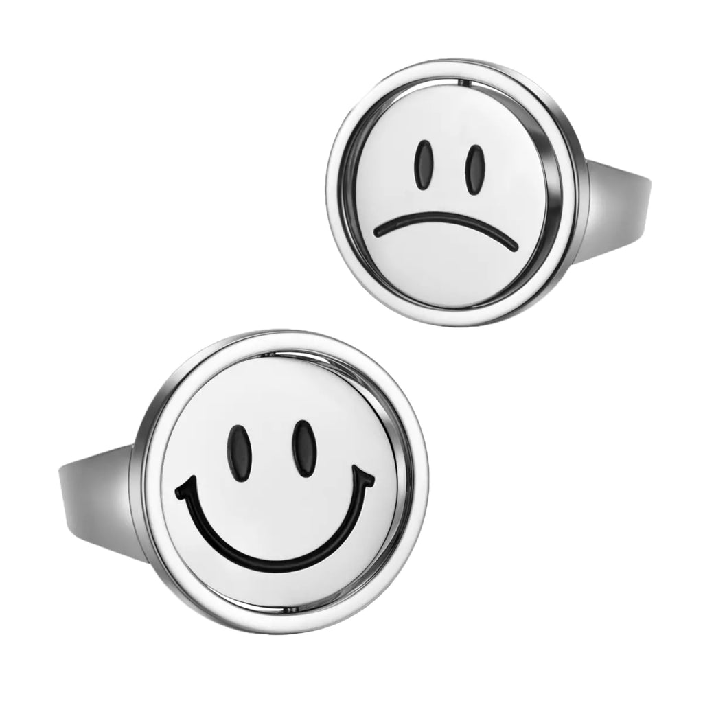 Flip double-faced smiley ring