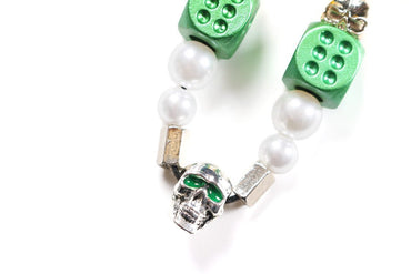 *EVAE+ SMILEY EMERALD PEARL NECKLACE