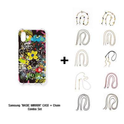 "Samsung ""DODDLE"" JELLY CASE + Chain Combo Set"