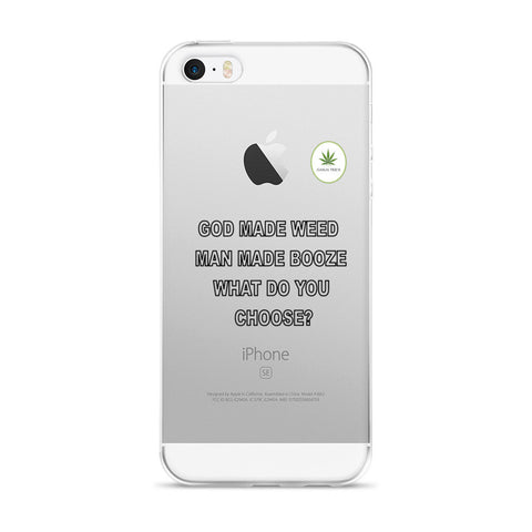 God Made Weed iPhone Case