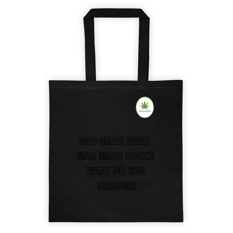 God Made Weed Tote bag