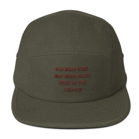 God Made Weed Five Panel Cap
