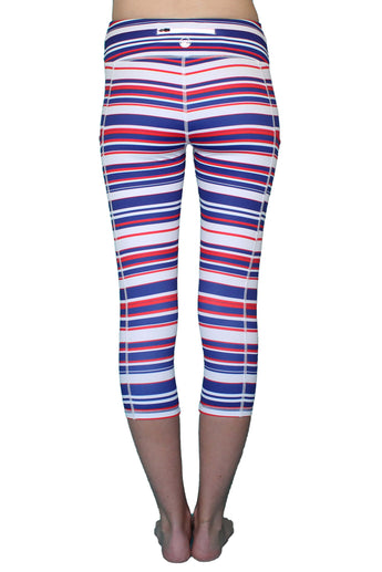 America Stripe - Pocket Capri