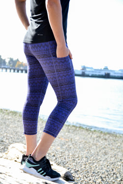 Purple Tribal - Pocket Tights