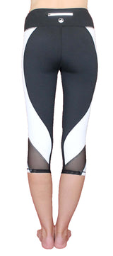 Black and White - Pocket Capri