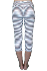 White and Black Stripe 3.0 - Pocket Capri
