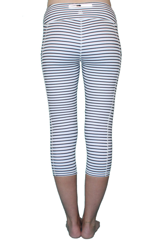 Black and White Stripe 3.0 - Pocket Capri