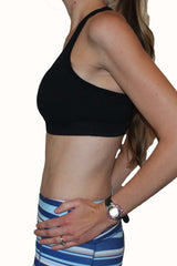 Adjustable Sports Bra - Black