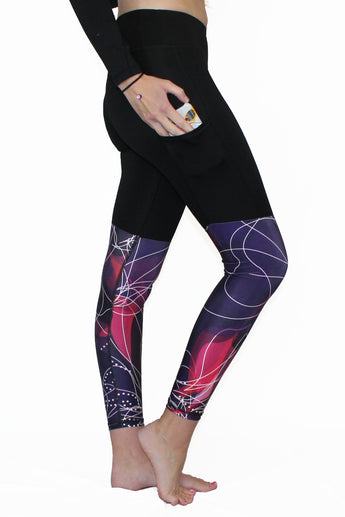 Purple and Pink Swirl - Pocket Pant