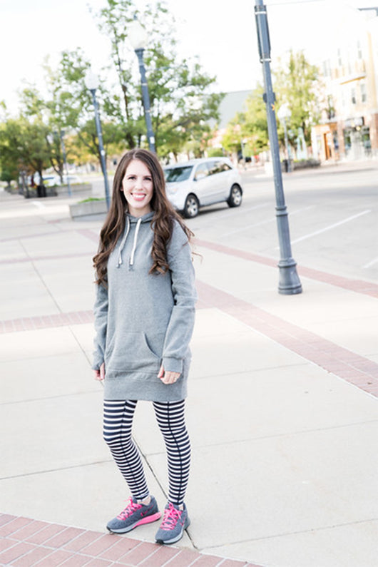 Sweatshirt Dress - Gray