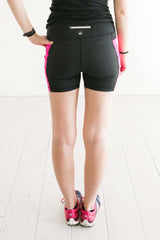 Black & Fuschia 5 inch - Pocket Short