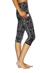 Black Lace - Pocket Capri - RESTOCKED