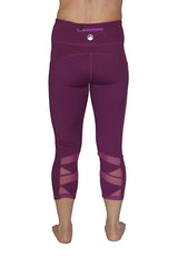 Purple Mesh - Pocket Capri