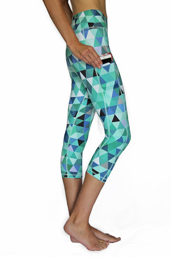 Mint Pixel - Pocket Tights