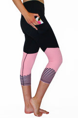 Stripes Just Right - Pink - Pocket Capri