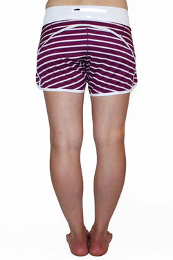 Runner's Dream 5 Pocket Short - Purple Stripe