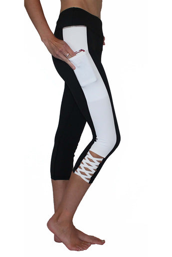 Black and White Crisscross - Pocket Tight