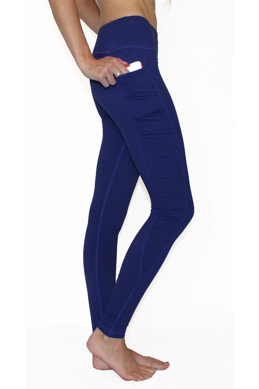 Royal Blue Ruffle - Pocket Pant