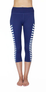 Royal Blue Pocket Tights With Stripes