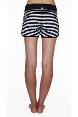 Runner's Dream 5 Pocket Short - Black and White Stripe