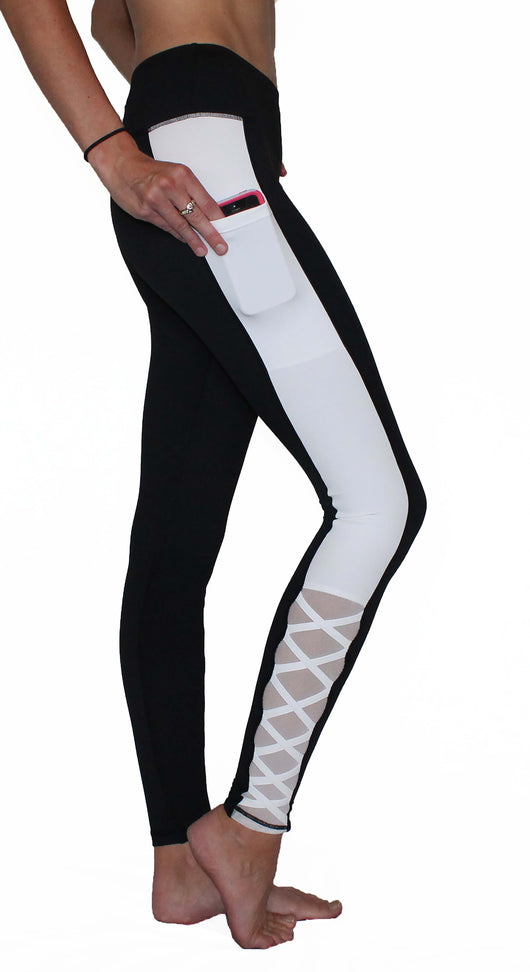 Black and White Criss Cross - Pocket Pant