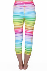 Rainbow Stripe - Pocket Capri