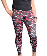 Red & Black Floral - Pocket Pant - NEW